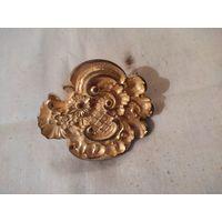 Накладка старинная , бронза с остатками позолоты.
