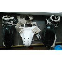 Форма хоккеиста, детская, ракушка, налокотники.