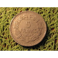 5 франков франция 1946 *701