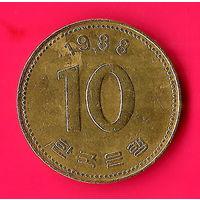 15-12 Южная Корея, 10 вон 1988 г.