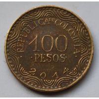 Колумбия, 100 песо 2014 г.