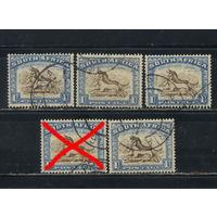 GB Колонии Южно-Африканский Союз 1927 Антилопа гну #35