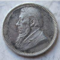 Южная Африка, 3 пенса, 1897, серебро