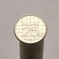 Нидерланды 25 центов 1987