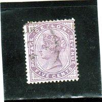 Цейлон.Ми-95. Королева Виктория. 1886.