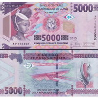 Гвинея 5000 франков образца 2012 года  UNC