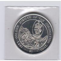 Британские Виргинские о-ва  2003. Золотой юбилей коронации. 1$.