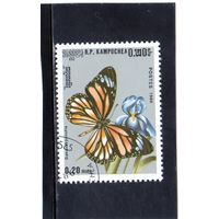 Камбоджа. Ми-1237. Полосатый тигр (Danaus genutia). Серия: Бабочки. 1986.