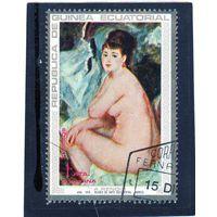 Экваториальная Гвинея.Ми-208. Анна (1875). Серия: Картины Огюста Ренуара. 1973.