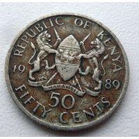 50 центов Кения 1989 года - из коллекции