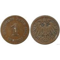 YS: Германия, Рейх, 1 пфенниг 1892F, KM# 10