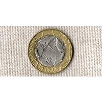 Италия 1000 лир 1998 /// (ON)