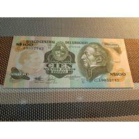 Уругвай 100 новых песо 1975