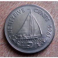 Багамские острова. 25 цент 1966 г.