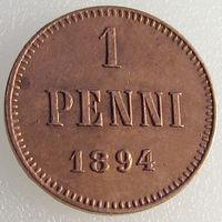 Россия для Финляндии, 1 пенни 1894 года, Биткин 257, Александр III