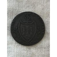 Великобритания Эдинбург 1/2 пенни 1792 г. Токен