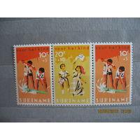 Колония Нидерландов Суринам. Охрана детства.  1966г.