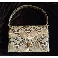 Дамская сумка класса люкс.Антикварная сумка ,клатч 60х годов.Натуральная кожа питона. Отличное состояние.