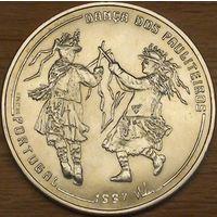 1000 эскудо 1997г. Иберо-Америка. Танец паулитейрос.