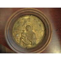 Икона  Божьей матери латунь 19 век
