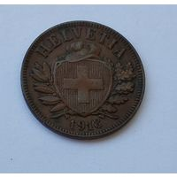 Швейцария 2 раппена, 1918 7-5-51