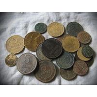 Кучка разных монет - 25 шт.