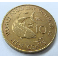 Сейшелы 10 центов 1981 г