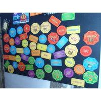 54 магнита, комплект, +АКЦИЯ (в описании)развивающие для детей и аффирмации для взрослых, на холодильник, комп, магнитные доски