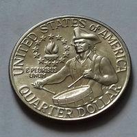 """25 центов, США 1976 D, """"Барабанщик"""""""