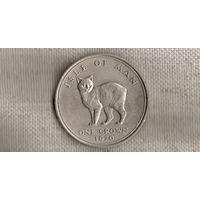 Мэн 1 крона 1970 /фауна/кошка/ большая монета/(Va)
