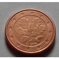 1 евроцент, Германия 2005 F, AU