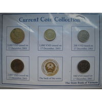 Вьетнам 200, 500, 1000, 2000, 5000 донг 2003 г. Комплект в упаковке