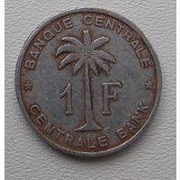 Бельгийское Конго 1 франк 1958 (Руанда - Урунди)