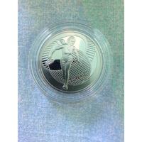 Теннис 1 рубль медно-никелевый сплав 2005