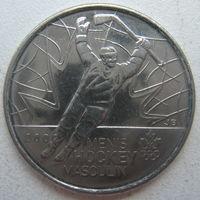 Канада 25 центов 2009 г. Победа мужской сборной по хоккею на олимпиаде в Солт-Лейк-Сити в 2002 г.