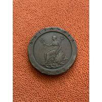 Великобритания 2 пенса 1797 г, колесо