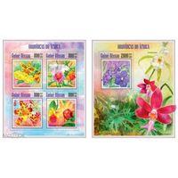 2013 Гвинея-Биссау флора цветы орхидеи  KB + BL MNH