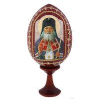 """""""Святой Лука"""" Сувенир Яйцо с подставкой, натуральное дерево (13-06) а также другие внутри лота(13-02)"""