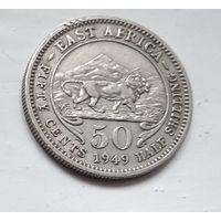 Британская Восточная Африка 50 центов, 1949 1-4-26