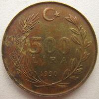 Турция 500 лир 1990 г. (g)