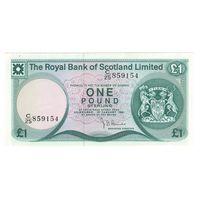 Шотландия 1 фунт 1981 года. Нечастая! Состояние UNC!