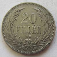 Венгрия 20 филлеров 1893