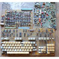 Платы СССР с микросхемами и радиодеталями