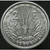 1к Камерун 2 франка 1948 В КАПСУЛЕ распродажа коллекции