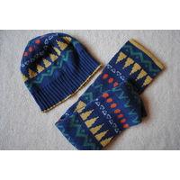 Шапка и шарф англ.фирмы Nutmeg 3-6 лет 49-52 см