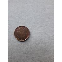 Монета Эстония 1 евроцент 2017