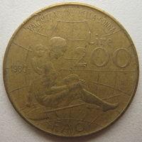 Италия 200 лир 1980 г. ФАО. Международный женский год (d)