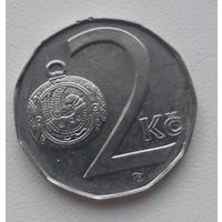 Чехия 2 кроны 1997 b_м.д. Яблонец-над-Нисой_km#9