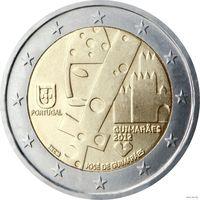 2 евро 2012 Португалия Гимарайнш UNC из ролла