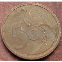 5622:  5 центов 2004 ЮАР